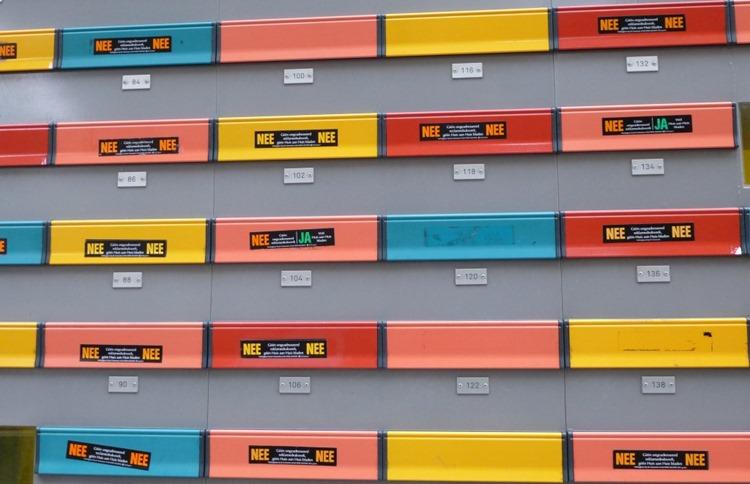 Vielfalt ... Postkästen in Rotterdam