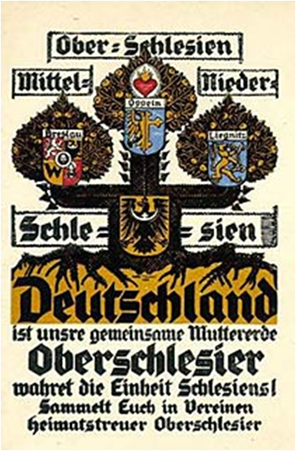 Plakat 1921 zur Volksabstimmung