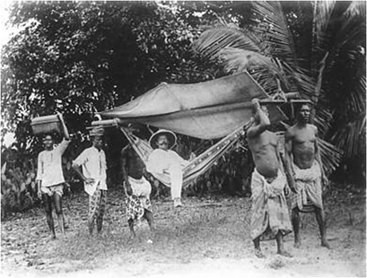 Deutscher Kolonialherr in Togo (ca. 1885)