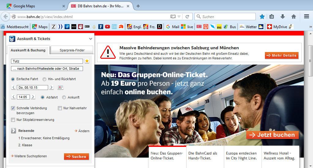 Deutsche Bahn und Flüchtlinge