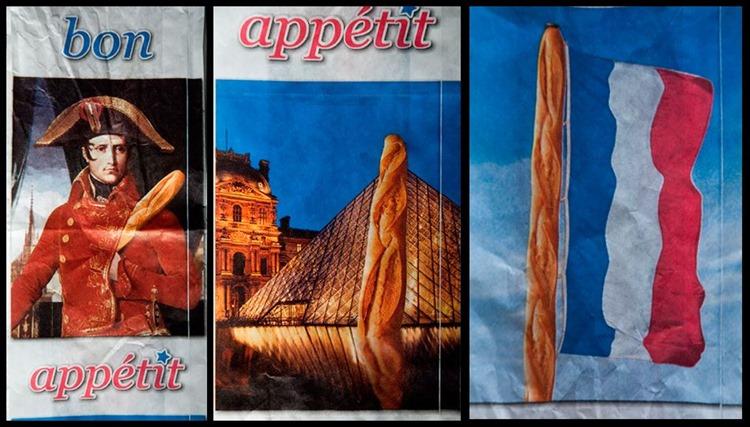 französische Stereotype auf Bäckertüten
