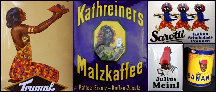 Hautfarben Stereotype Kaffee und Schokoladen-Werbung