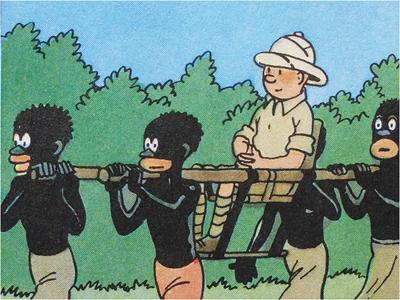 Tim & Struppi im Kongo - Stereotype im Comic