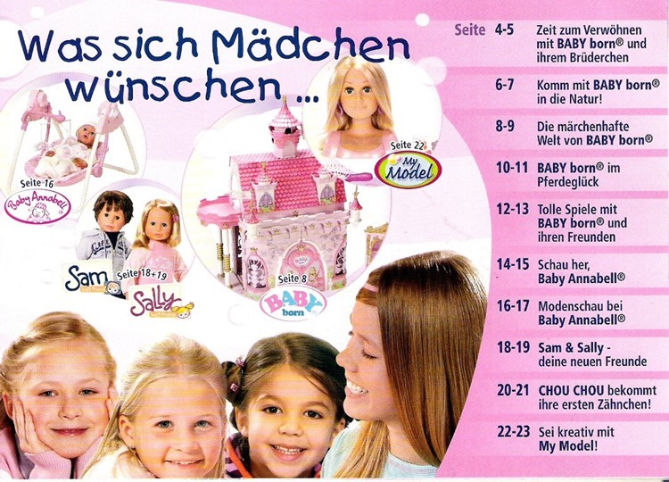 Mädchen Stereotype in der Spielzeugwerbung