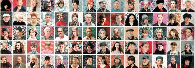 Variationen von Menschen aus Russland ...
