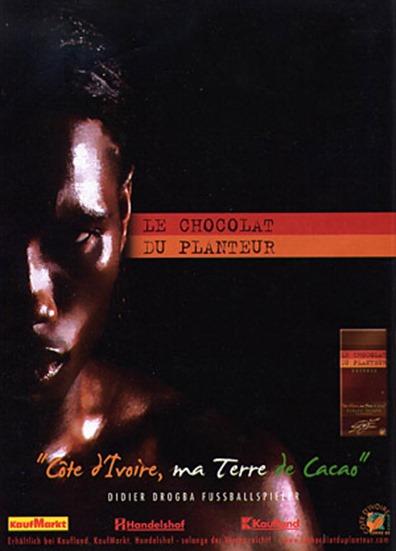 Werbung für Plantagen-Schokolade ... wer denkt da schon an Kolonialismus?