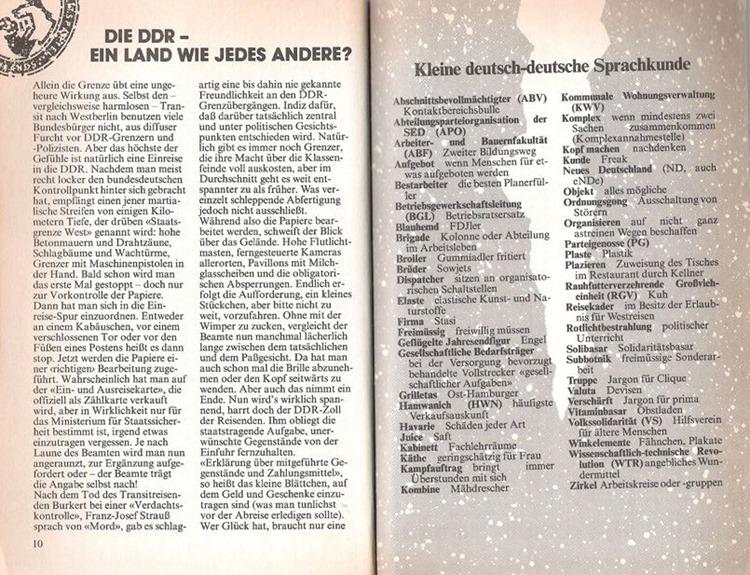 Übersetzung vom DDR-Deutsch ins Deutsche