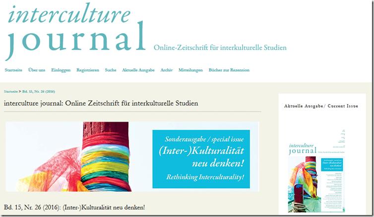 Fachzeitschrift für interkulturelle Studien
