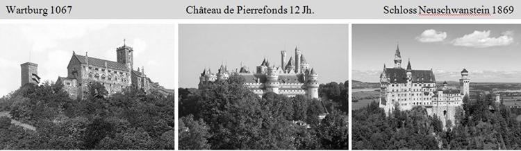Schlosscollage als deutscher Tourismushit