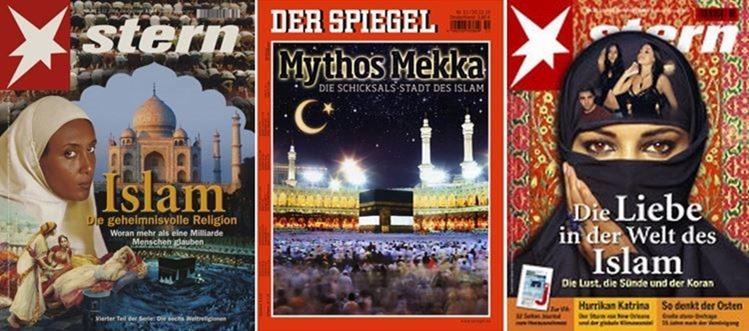 Orientalistische Muster auf Zeitschriftencovern