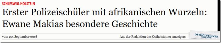 Artikel im Ostholsteiner Anzeiger 09_2016