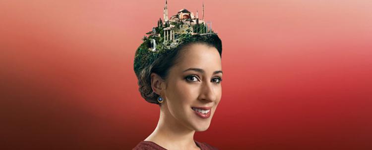 Werbung der ITB Tourismusbörse für Reisen in den NahenOsten