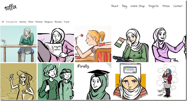 Comic-Blog screenshot